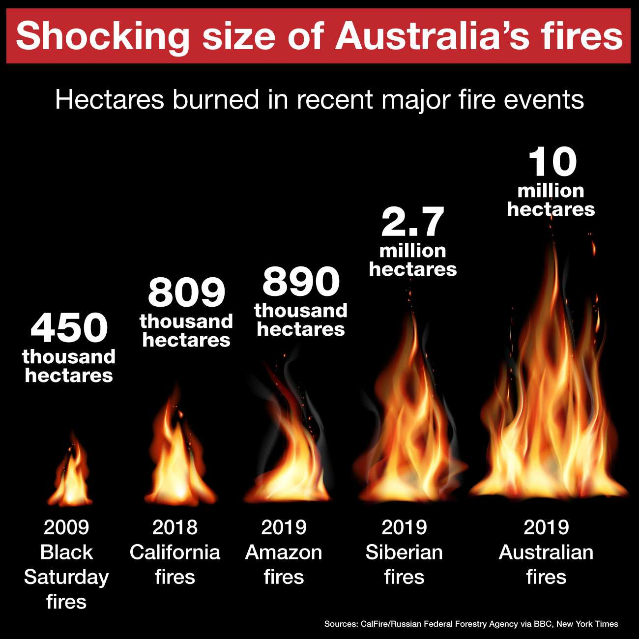 The shocking scale of Australia's fires
