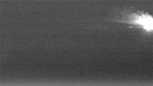 Night vision bushfire detection sensor image from the Mt Tumorrama trial tower