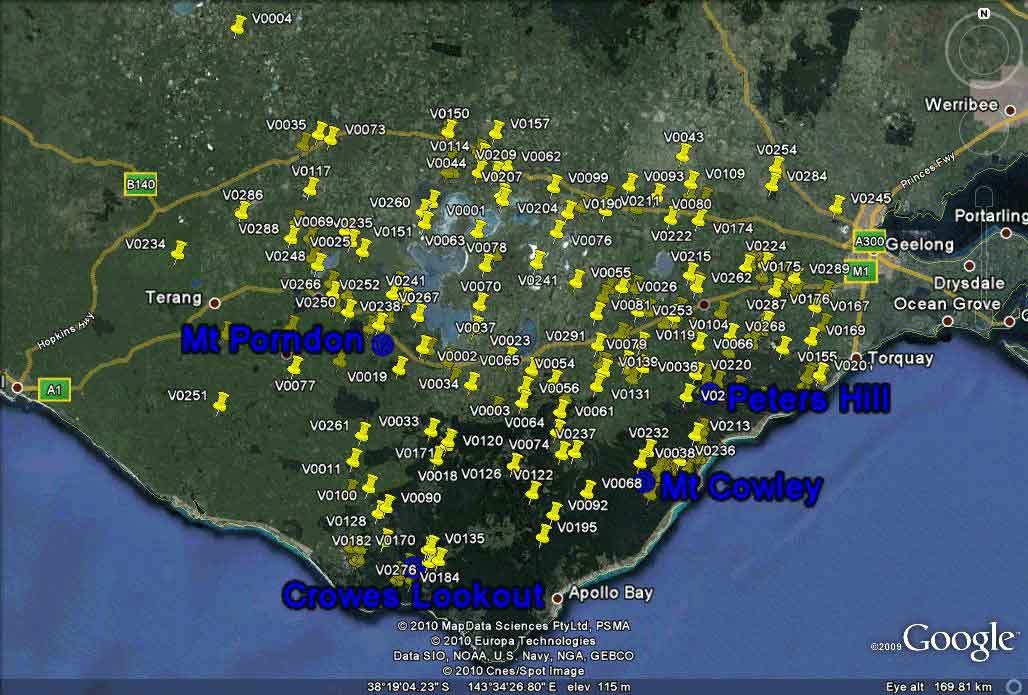 FireWatch bushfire detections in Victoria