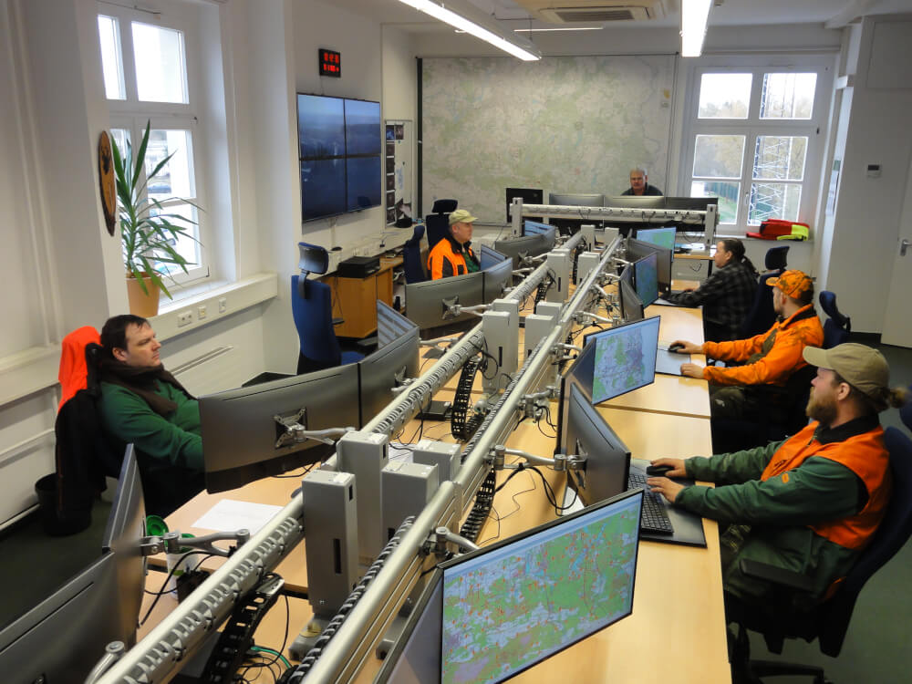 View into the modernized forest fire control center